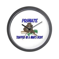Primate Trapped In A Man's Body Wall Clock