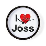 I Love Joss for Joss Lovers Wall Clock