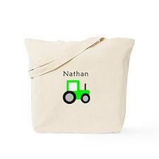 Nathan - Lime Green Tractor Tote Bag