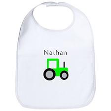 Nathan - Lime Green Tractor Bib