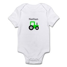 Nathan - Lime Green Tractor Infant Bodysuit