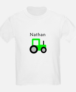 Nathan - Lime Green Tractor T-Shirt