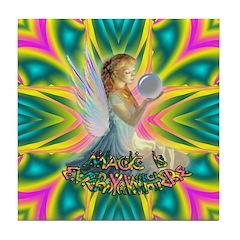 Magic Fairy Girl Tile Coaster