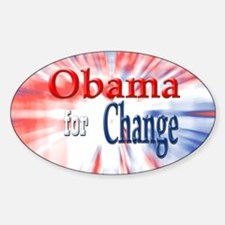 Obama for Change Oval Decal