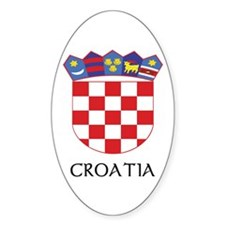 Croatia Coat of Arms Oval Decal