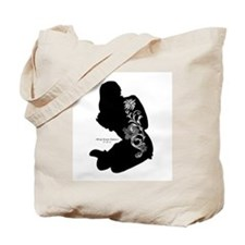 Tattooed Silhouette Girl Tote Bag