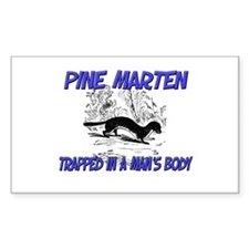 Pine Marten Trapped In A Man's Body Decal