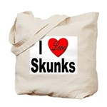 I Love Skunks for Skunk Lovers Tote Bag