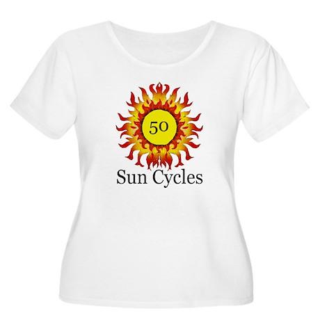 50 Sun Cycles Women's Plus Size Scoop Neck T-Shirt