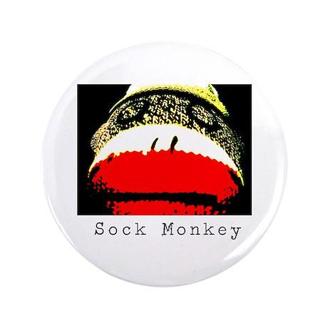 """Sock Monkey 3.5"""" Button"""