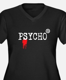 Registered Psycho Women's Plus Size V-Neck Dark T-