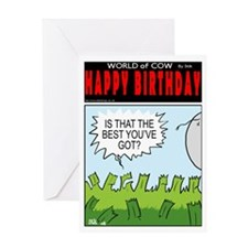 Beaten Grass Greeting Card