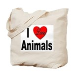 I Love Animals for Animal Lovers Tote Bag