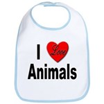 I Love Animals for Animal Lovers Bib
