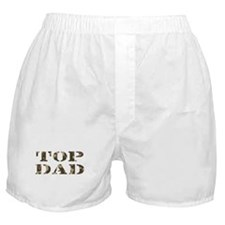 Camo Camouflage Top Dad Boxer Shorts