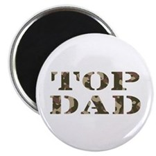"Camo Camouflage Top Dad 2.25"" Magnet (100 pack)"
