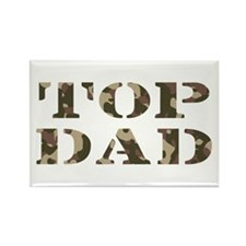 Camo Camouflage Top Dad Rectangle Magnet