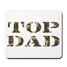 Camo Camouflage Top Dad Mousepad