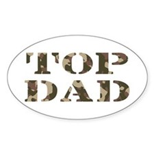 Camo Camouflage Top Dad Oval Decal
