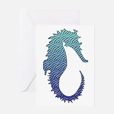 Wave Seahorse Greeting Card