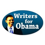 Writers for Obama bumper sticker