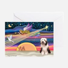 XmasAngel - Bearded Coll Greeting Cards (Pk of 10)