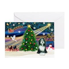 Xmas Magic & Beardie Greeting Card