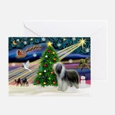 Xmas Magic & Beardie Greeting Card