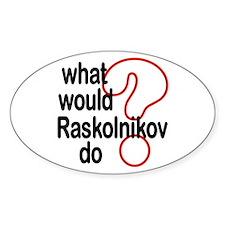 Raskolnikov Oval Decal
