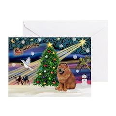 Xmas Magic & Chow Greeting Cards (Pk of 10)