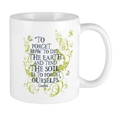 Gandhi Vine - Dig the earth - Blue & Green Mug