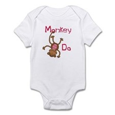 Monkey Do pink Infant Bodysuit