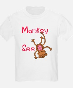 Monkey See pink T-Shirt
