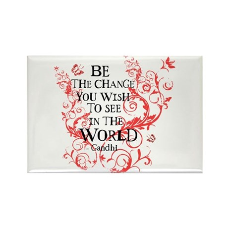 Gandhi Vine - Be the change - Maroon Rectangle Mag