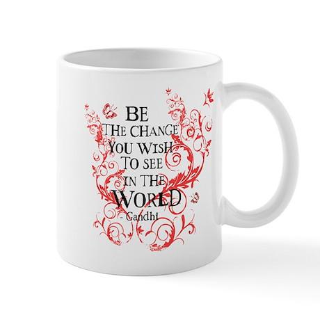 Gandhi Vine - Be the change - Maroon Mug