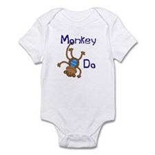 Monkey Do blue Infant Bodysuit