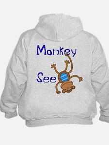 Monkey See blue Hoodie
