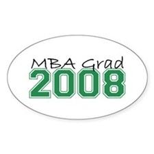 MBA Grad 2008 (Green) Oval Decal