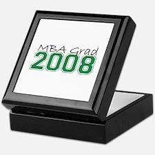 MBA Grad 2008 (Green) Keepsake Box