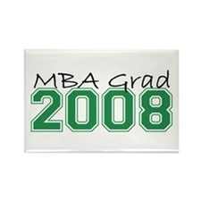 MBA Grad 2008 (Green) Rectangle Magnet