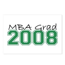 MBA Grad 2008 (Green) Postcards (Package of 8)