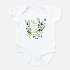 Gandhi Vine - Be the change - Green Infant Bodysui