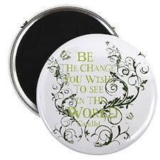 Gandhi Vine - Be the change - Green Magnet