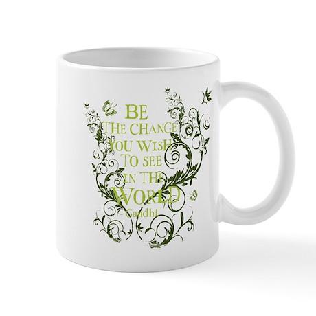 Gandhi Vine - Be the change - Green Mug