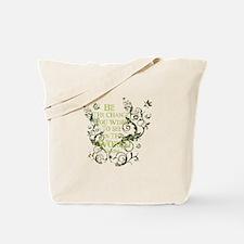 Gandhi Vine - Be the change - Green Tote Bag