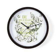 Gandhi Vine - Be the change - Green Wall Clock