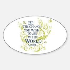 Gandhi Vine - Be the change - Blue & Green Sti
