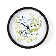 Gandhi Vine - Be the change - Blue & Green Wall Cl