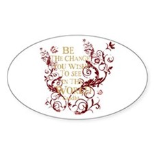 Gandhi Vine - Be the change - Burgundy Decal