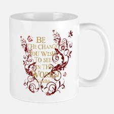 Gandhi Vine - Be the change - Burgundy Mug